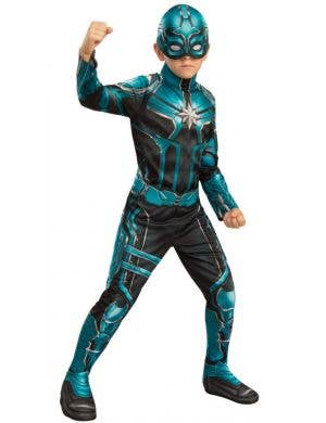 Captain Marvel Starforce Boys Superhero Fancy Dress Costume