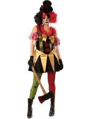 Evil Clown Women's Halloween Fancy Dress Costume