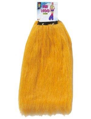 Club Candy Bright Orange Women's Fur Leg Warmers