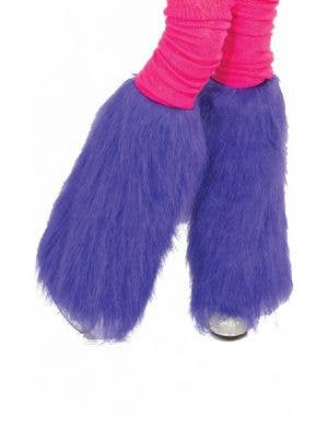 Club Candy Neon Purple Women's Fur Leg Warmers