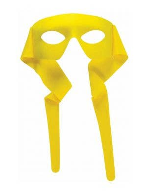Bright Yellow Superhero Face Mask Costume Accessory