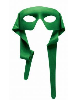 Bright Green Superhero Face Mask Costume Accessory