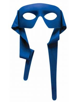 Bright Blue Superhero Face Mask Costume Accessory