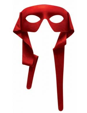 Bright Red Superhero Face Mask Costume Accessory