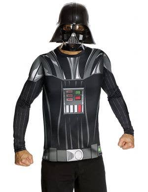 Darth Vader Costume Shirt and Mask Set For Men