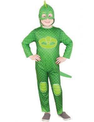 Kids Green Gekko PJ Masks Fancy Dress Superhero Costume
