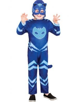 Kid's Blue Catboy PJ Masks Glow In The Dark Fancy Dress Costume