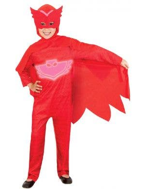 Kid's Red Owlette PJ Masks Glow In The Dark Fancy Dress Costume