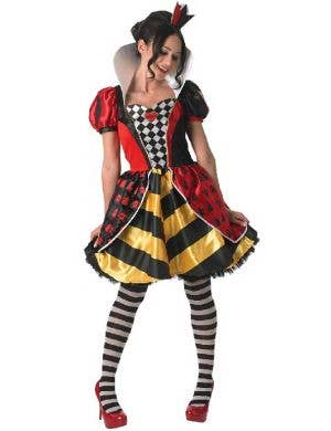 Red Queen Of Hearts Fancy Dress Costume