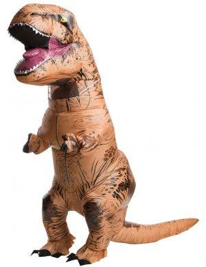 Adult's Inflatable Jurassic World T-Rex Dinosaur Novelty Fancy Dress Costume