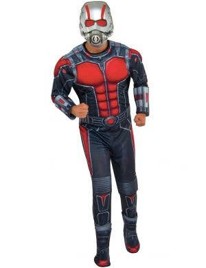 Men's Deluxe Muscle Chest Ant Man Fancy Dress Costume