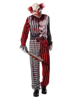 Men's Evil Clown Halloween Costume Front View