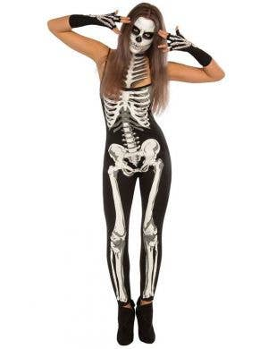 Sexy Women's Skeleton Bodysuit Halloween Costume