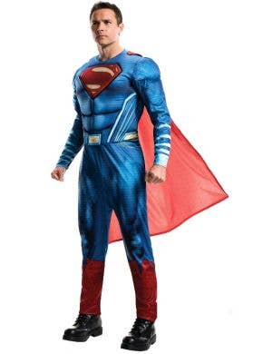 Superman Justice League Mens Muscle Chest Superhero Costume