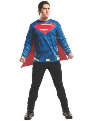 Superman Dawn of Justice Mens Shirt and Cape Costume