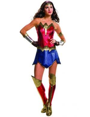 Deluxe Women's New Wonder Woman Fancy Dress Costume Main Image