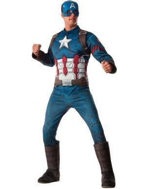Captain America Deluxe Muscle Chest Costume Main Image