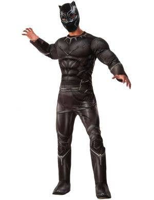 Men's Deluxe Black Panther Avengers Costume Main Image