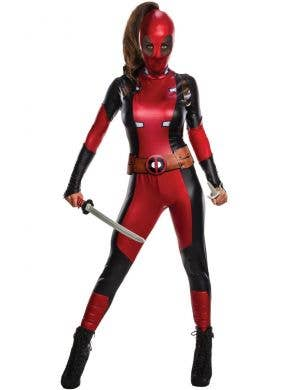Secret Wishes Deadpool Deluxe Women's Fancy Dress Costume