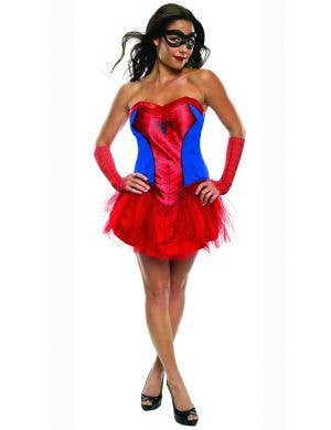 Women's Sexy Spidergirl Tutu Fancy Dress Costume Main Image