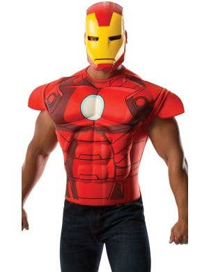 Iron Man Muscle Shirt and Mask Costume Set Main Image