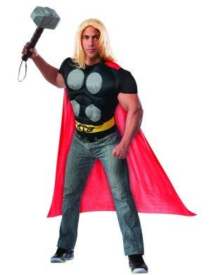 Men's Thor Muscle Chest Costume Shirt full View