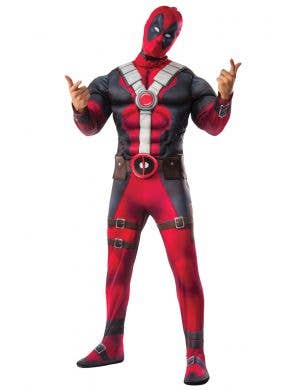 Men's Deadpool Super Hero Fancy Dress Costume Main Image