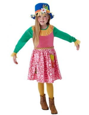 Girls Cute Scarecrow Fancy Dress Book Week Costume