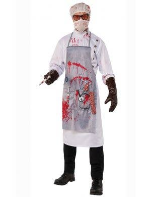Bloody Mad Doctor Halloween Zombie Costume for Men
