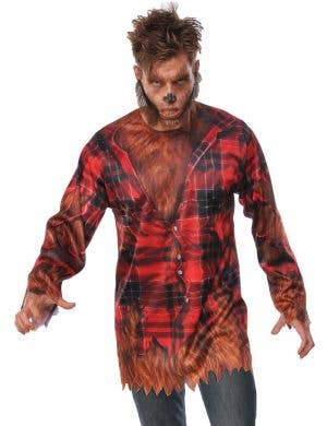 Men's Werewolf Halloween Fancy Dress Costume Shirt