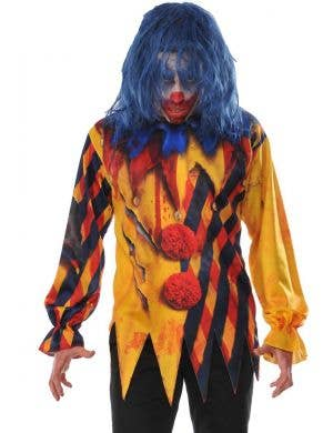 Scary Clown Printed Halloween Costume Shirt For Men