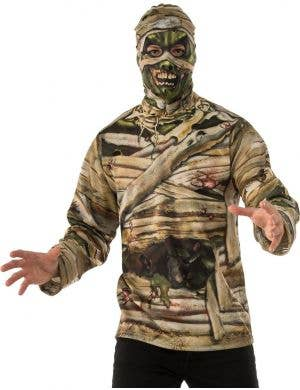 Scary Zombie Mummy Halloween Costume Shirt For Men