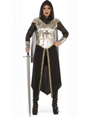 Women's Medieval Knight Fancy Dress Costume