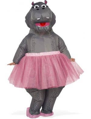 Adult's Funny Inflatable Ballerina Hippo Costume