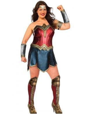 Justice League Deluxe Wonder Woman Plus Size Women's Costume