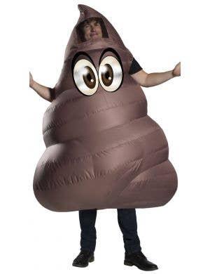 Poop Emoji Novelty Inflatable Men's Brown Fancy Dress Costume
