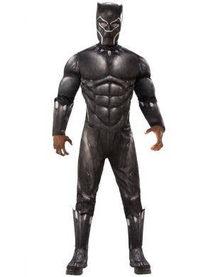 Black Panther Men's Muscle Chest Superhero Costume