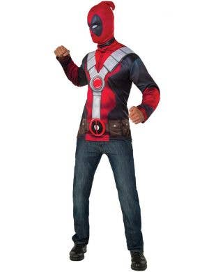 Marvel Comics Deadpool Costume Shirt and Mask Set for Men
