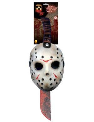 Friday the 13th Jason Mask & Machete Set