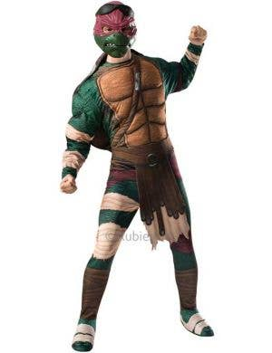 Men's Raphael TMNT Fancy Dress Costume Front