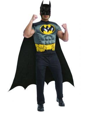 Batman Muscle shirt fancy dress costume full view