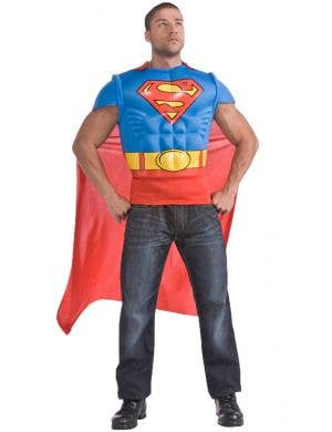 Superman Muscle Chest T-Shirt Costume with Cape