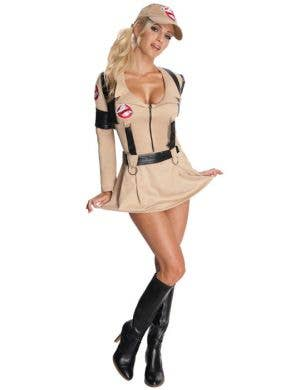 Women's Short Skirt Ghostbusters Fancy Dress Front View