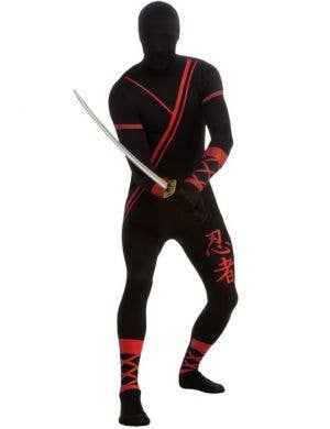 Second Skin Men's Black Ninja Fancy Dress Costume Main Image