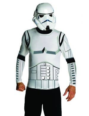 Storm Trooper Costume Shirt and Mask Set For Men