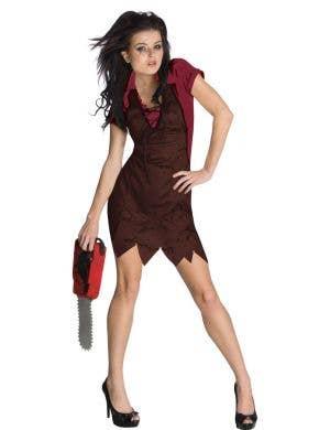 Sexy Texas Chainsaw Leatherface Women's Halloween Costume Main Image