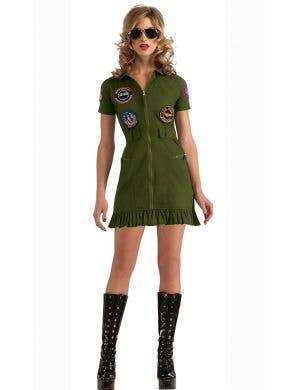 Sexy Top Gun Women's Aviator Flight Suit Costume