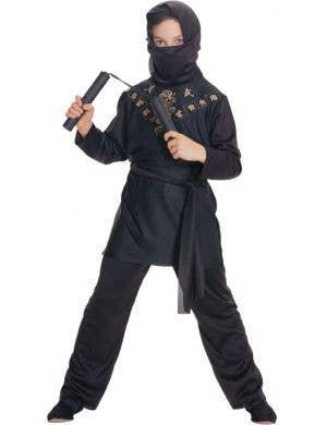 Boy's Budget Japanese Ninja Costume