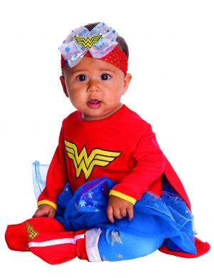 Wonder Woman Baby Girls Superhero Fancy Dress Costume