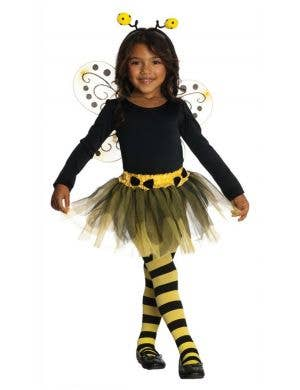 Bumble Bee Girl's Fancy Dress Costume Front View
